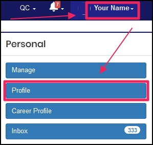 image shows how to get to a profile by clicking name