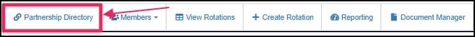 image user nav-bar highlighting Partnership Directory