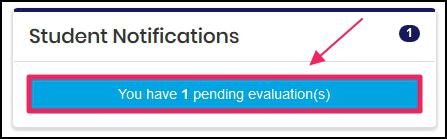 image Notification panel showing Pending Evaluation
