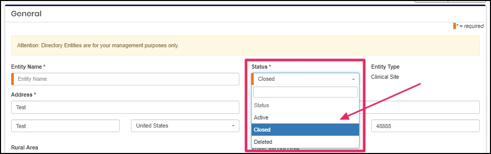 image shows closed tab