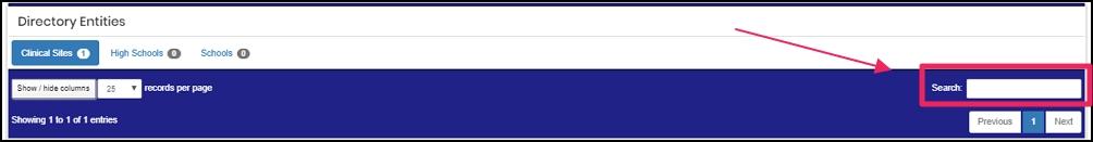 image shows search box