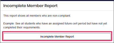 image Incomplete member report tile