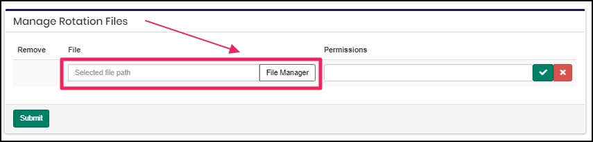 image shows file manager