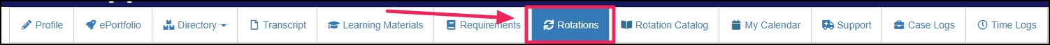 image shows Rotation tab