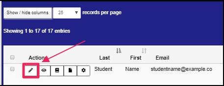 Image shows edit icon
