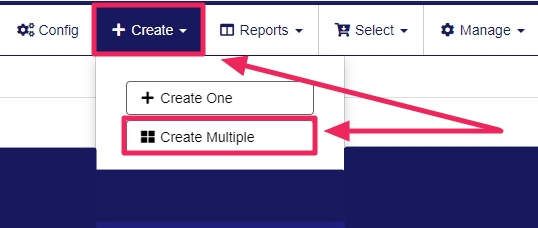 image with arrows pointing to create and create multiple tabs