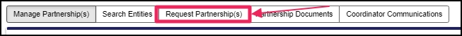 image Partnership Directory pointing to Request Partnership(s) button