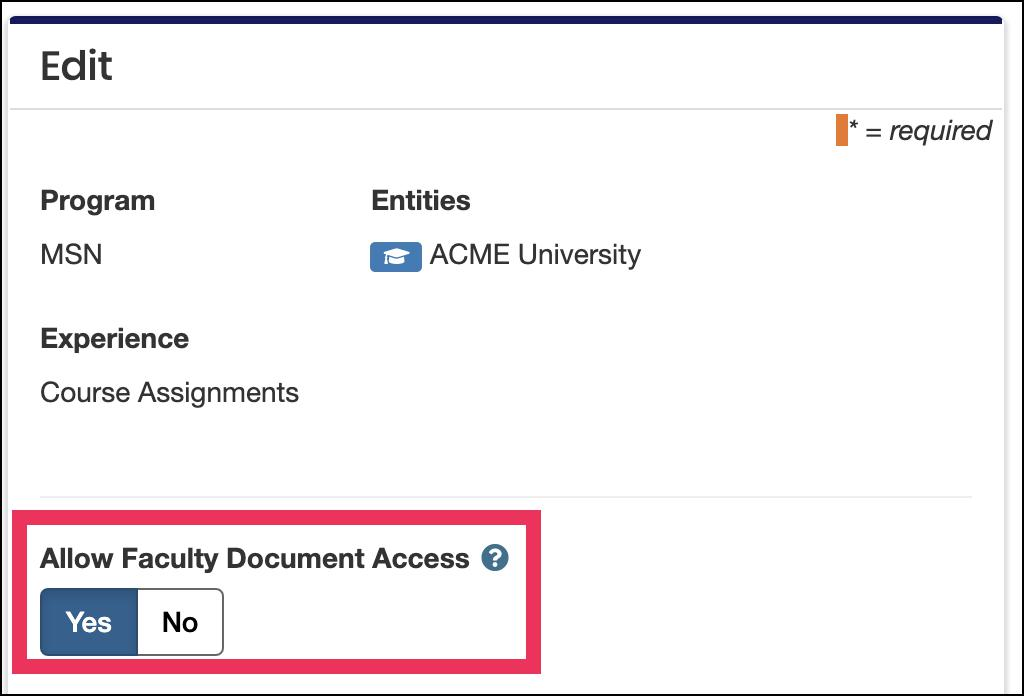 image Edit Rotation screen showing Allow Faculty Document toggle